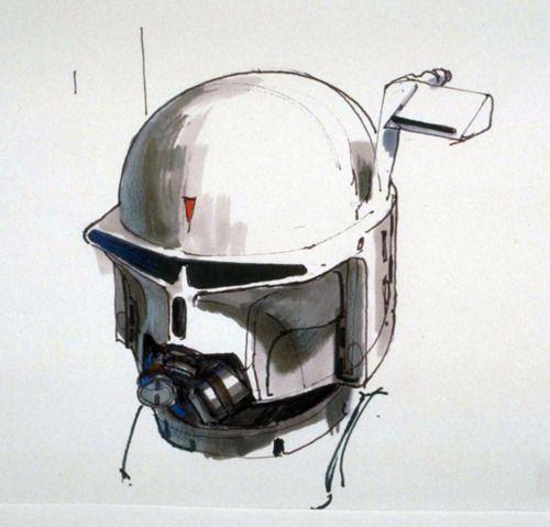 Ralph Mcquarrie Early Boba Fett Helmet Concept Cause Everyone