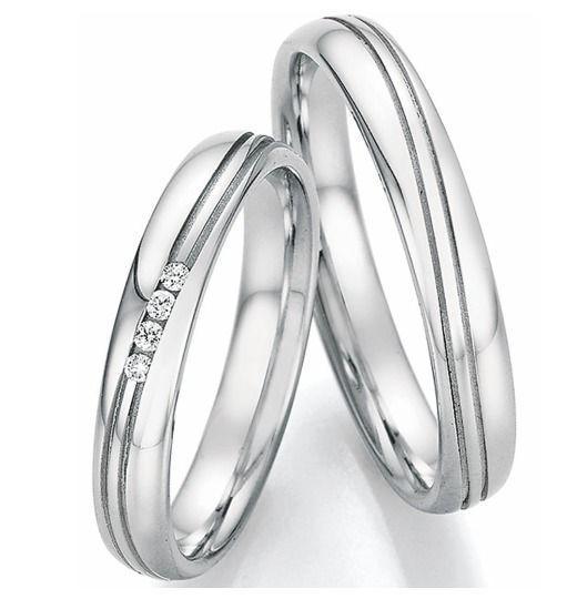 Trauringe Edelstahl Diamanten Verlobungsringe Schlicht Eheringe
