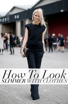 Use fashion to your advantage – find out how you can make yourself look more slim!