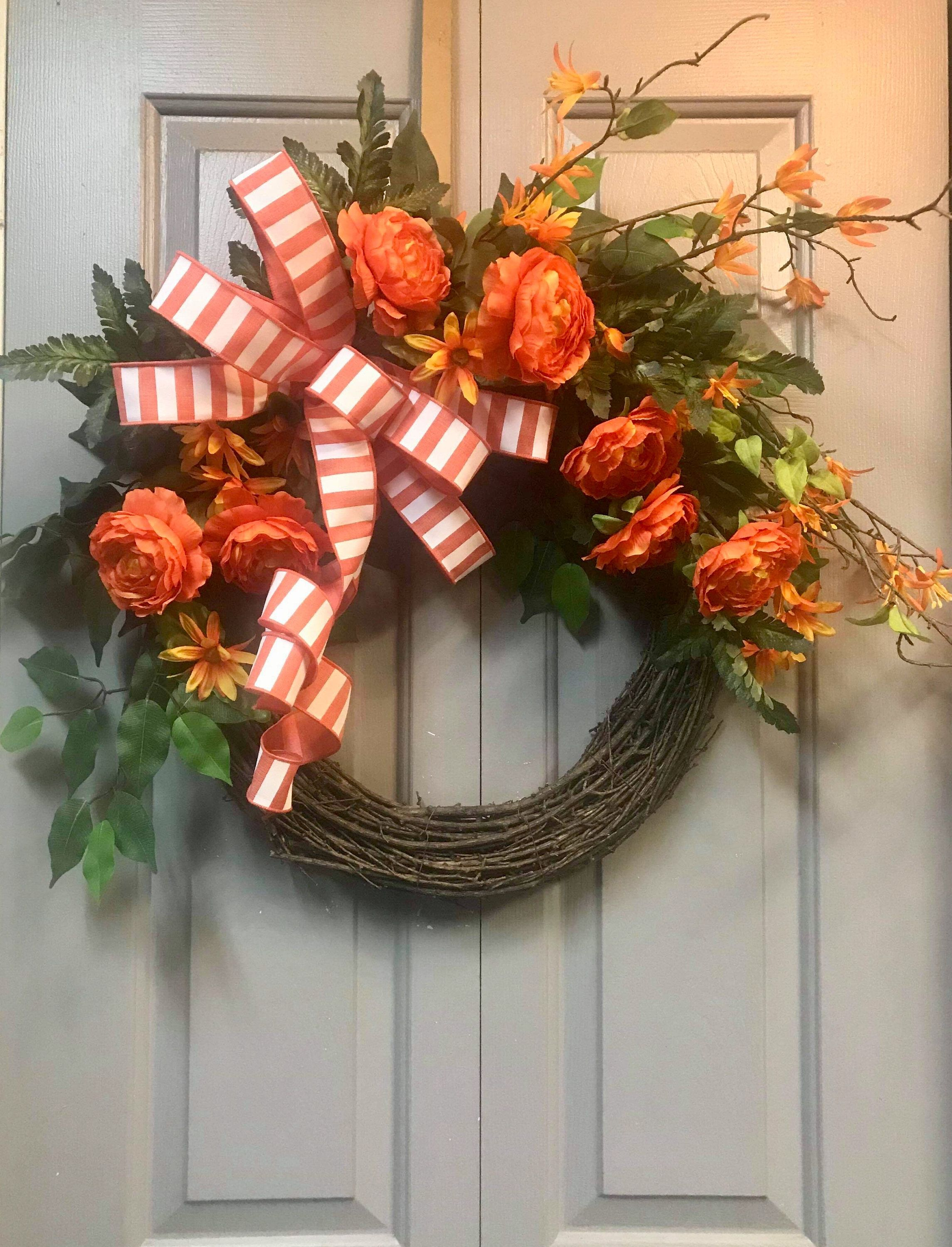 Photo of Front Door Wreath, Fall Wreath, Grapevine Wreath, Everyday Wreath, Year Round Wreath, Farmhouse Wreath, Autumn Wreath