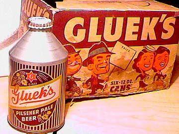 Gluek's Pilsner Pale Beer Conetop