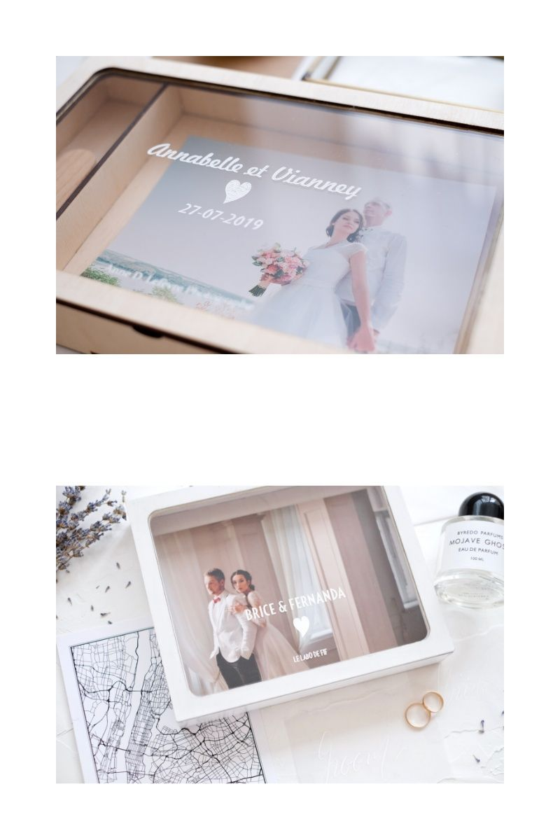 Wooden Box For A Photo As A Wedding Gifts With Transparent Lid And Personalized Image Made To Order S Izobrazheniyami Korobka