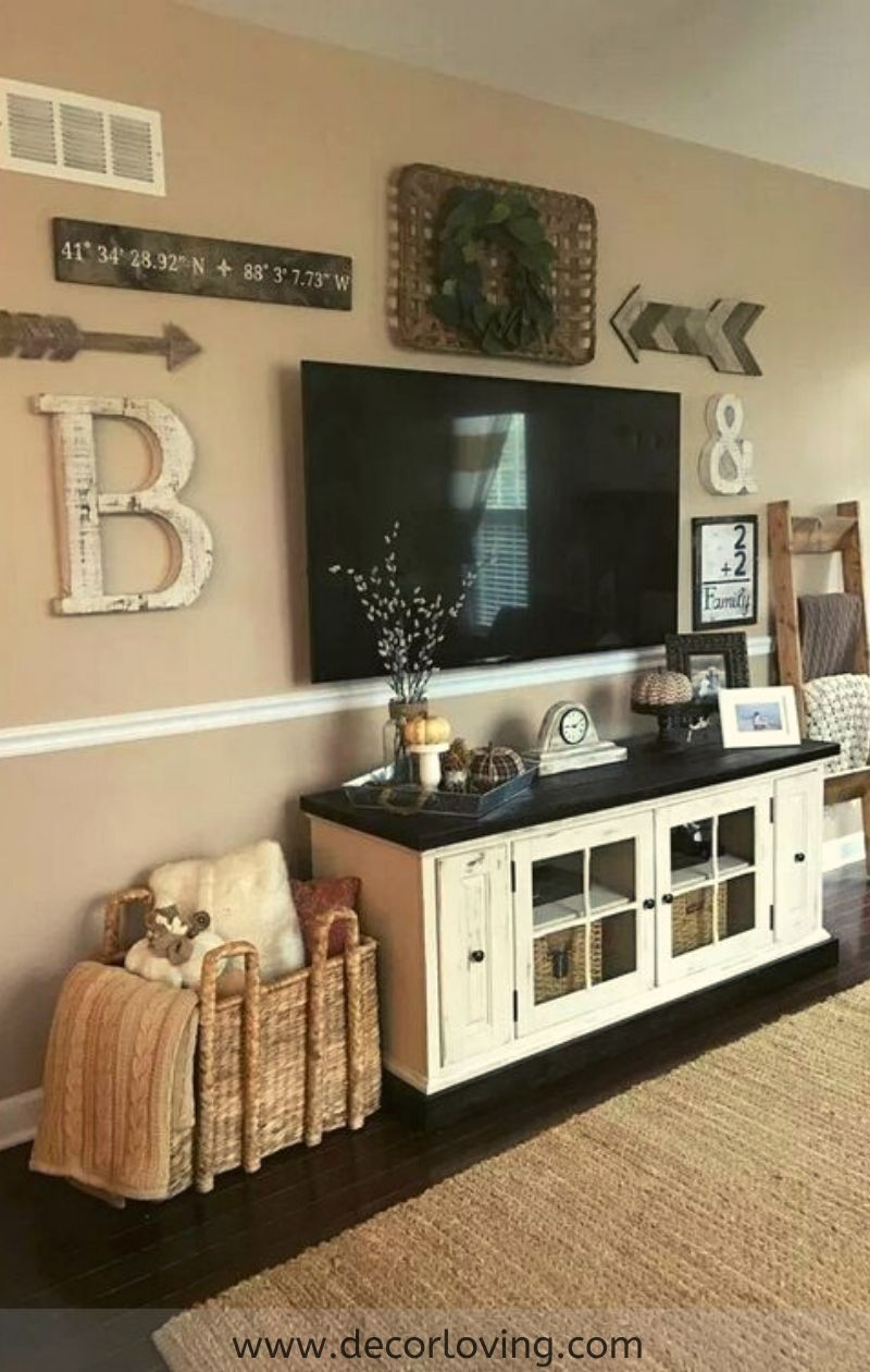 Top 21 Farmhouse Living Room Designs And Living Room Decoration Ideas Farmhouse Decor Living Room Living Room Tv Wall Living Room Tv Stand