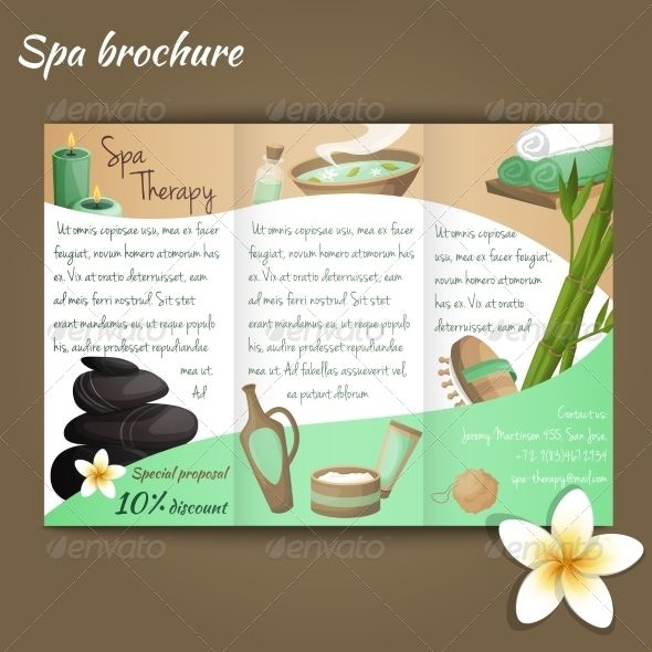 Spa Salon Brochure Fonts-logos-icons Pinterest - spa brochure