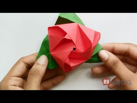 New origami hand works fireworks handiworks 02 youtube origami paper folding instructions rose flower cube work this beautiful origami rose is the best gift for a loved one mightylinksfo