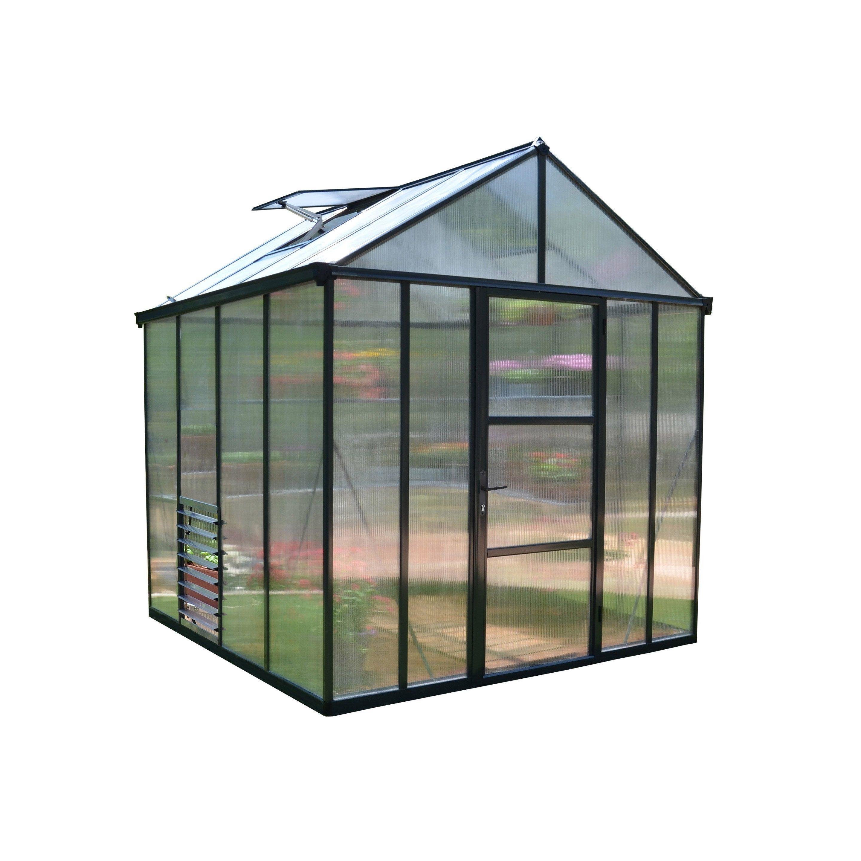 Serre De Jardin Glory 5 7 M Aluminium Et Polycarbonate Double Parois Palram Serre Jardin Maison Verte Paroi