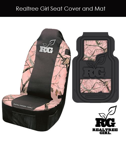 Realtree Girl Pink Camo Seat Cover And Mat Realtreegirl Pinkcamo Seatcover Truckaccessories