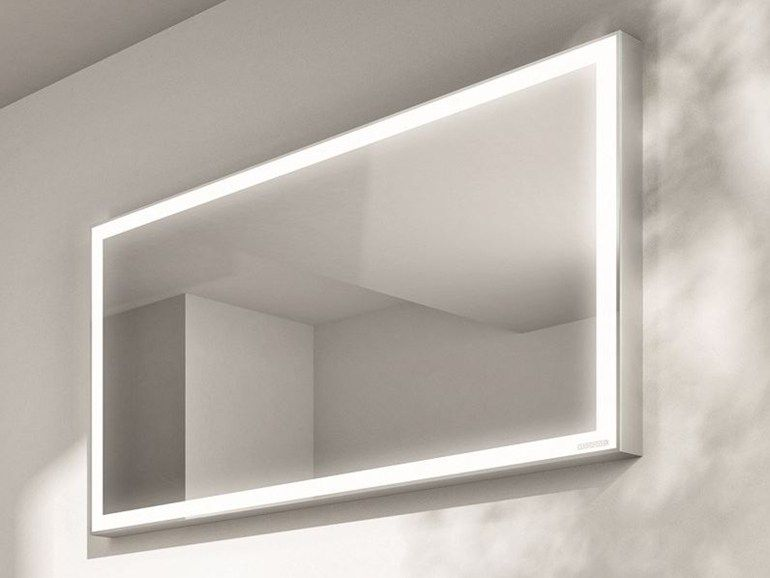 Images On Rectangular bathroom mirror with light Cubik Collection by IdeaGroup