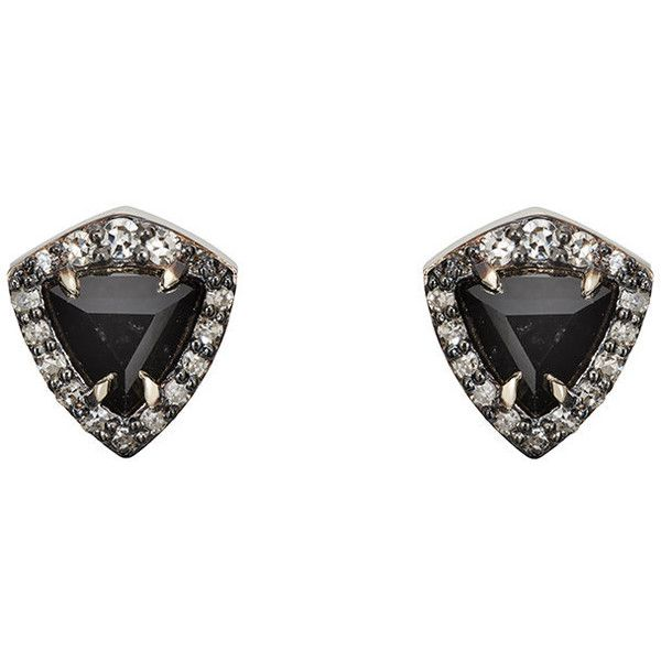 Nak Armstrong Womens Trillion-Cut White Diamond Stud Earrings WGkbchyzY
