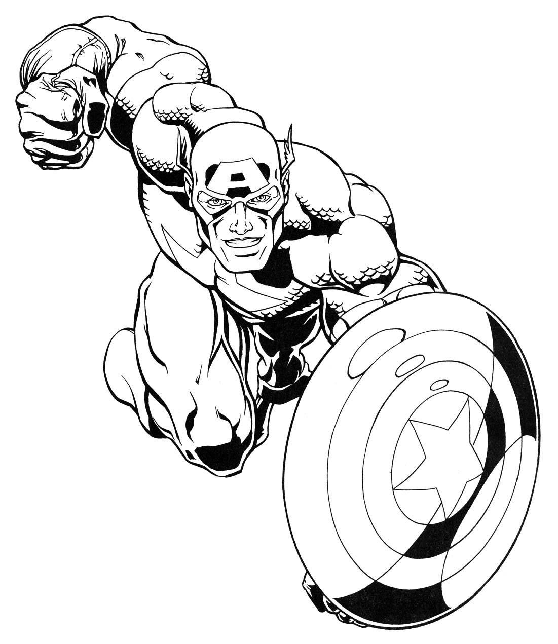 Avengers Coloring Pages Crafts for kids Superhero