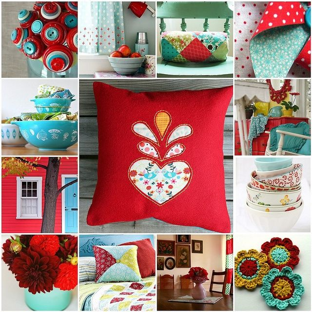 Image Result For Mustard Red Turquoise Gray White Color Scheme