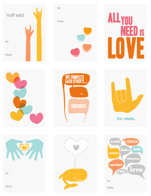 Free Valentine's Day printables from Olli Bird!