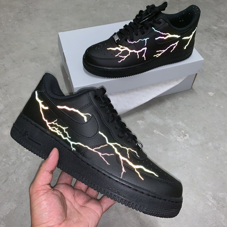 Rainbow 3M Lightning Air Force 1 Custom | Nike shoes air