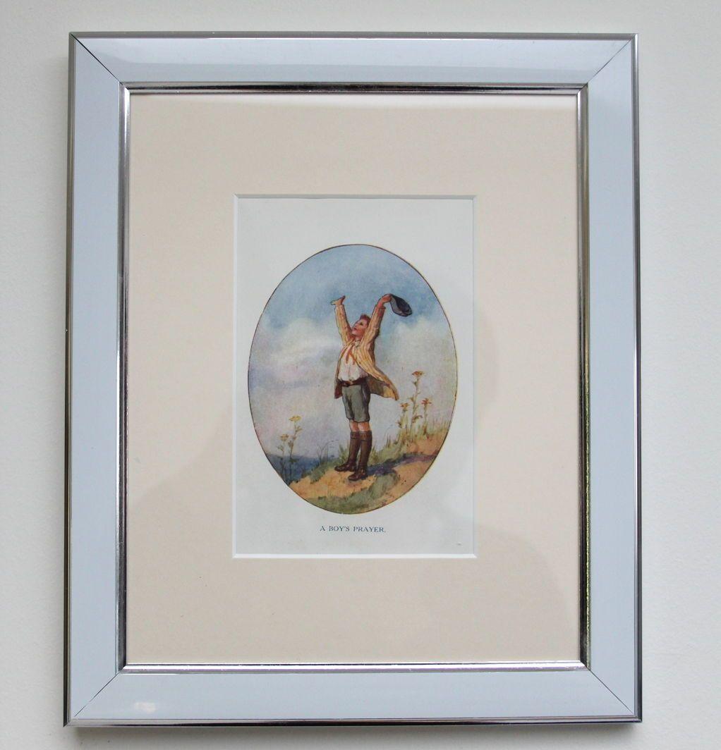 "Original Antique Framed print from ""A Boy's Prayer."" Art: Margaret Tarrant | eBay"