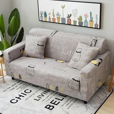 Slipcovers All Inclusive Slip Resistant Sectional Elastic Sofa