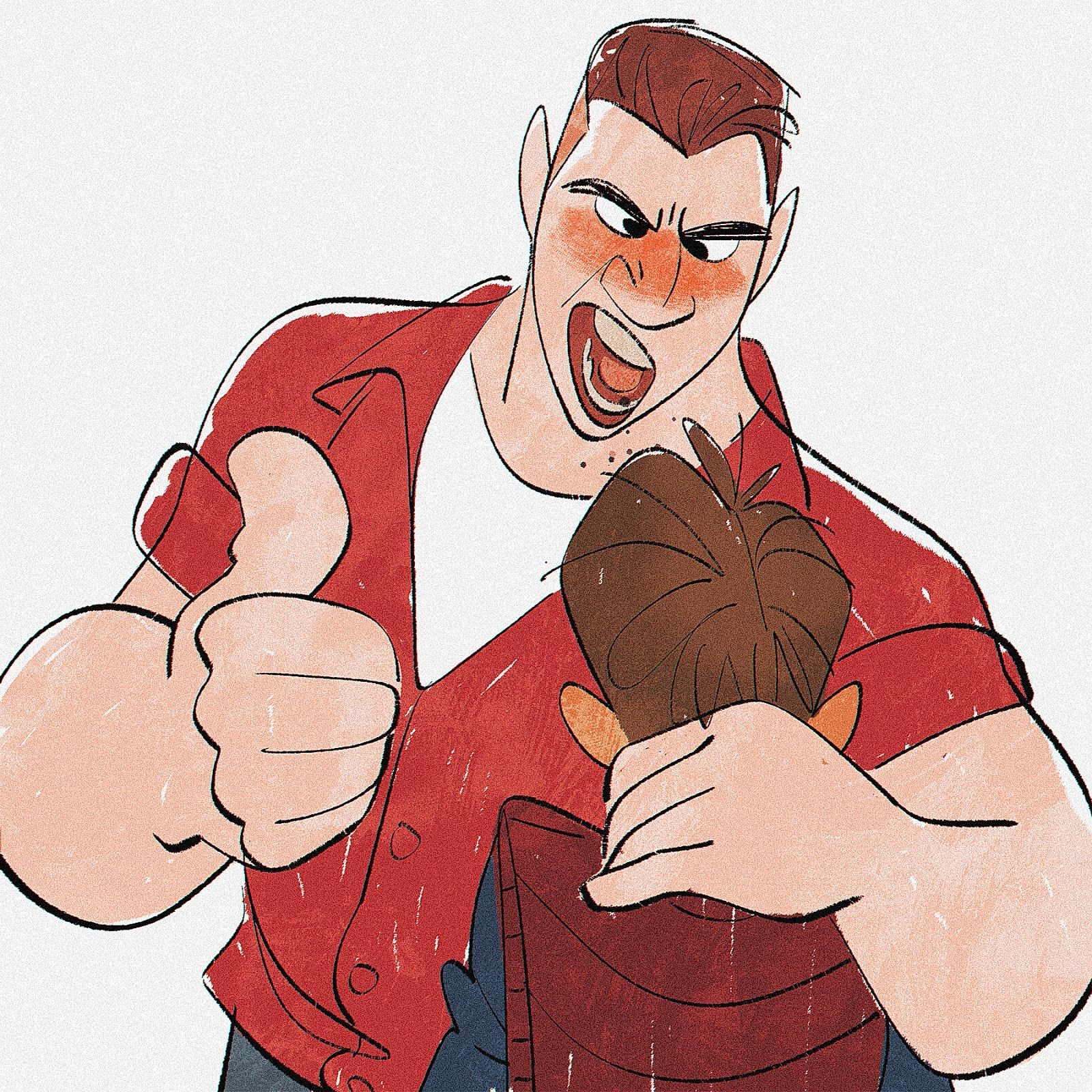 """Great movie. Biff and Marty by Bobby Pontillas (Same artist for the heart-warming shortfilm """"Feast"""" featured with Big Hero 6)"""