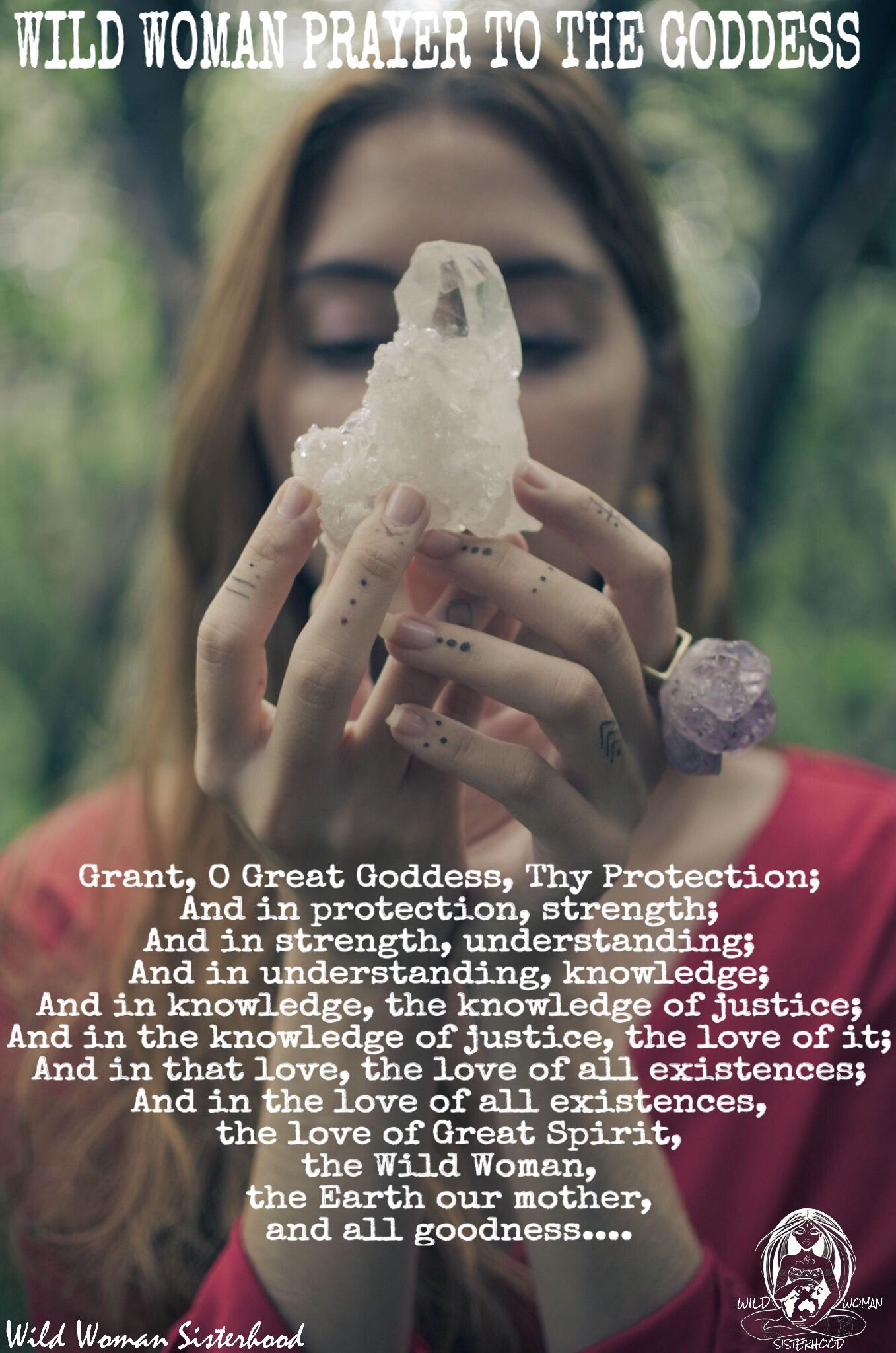 Wild woman prayer to the goddess grant o great goddess thy wild woman prayer to the goddess grant o great goddess thy protection and fandeluxe Gallery