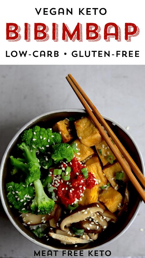 Vegan Keto Bibimbap Gluten Free Soy Free Option Meat Free Keto Vegan Keto Recipes Recipe Vegan Keto Recipes Low Calorie Vegan Vegan Keto