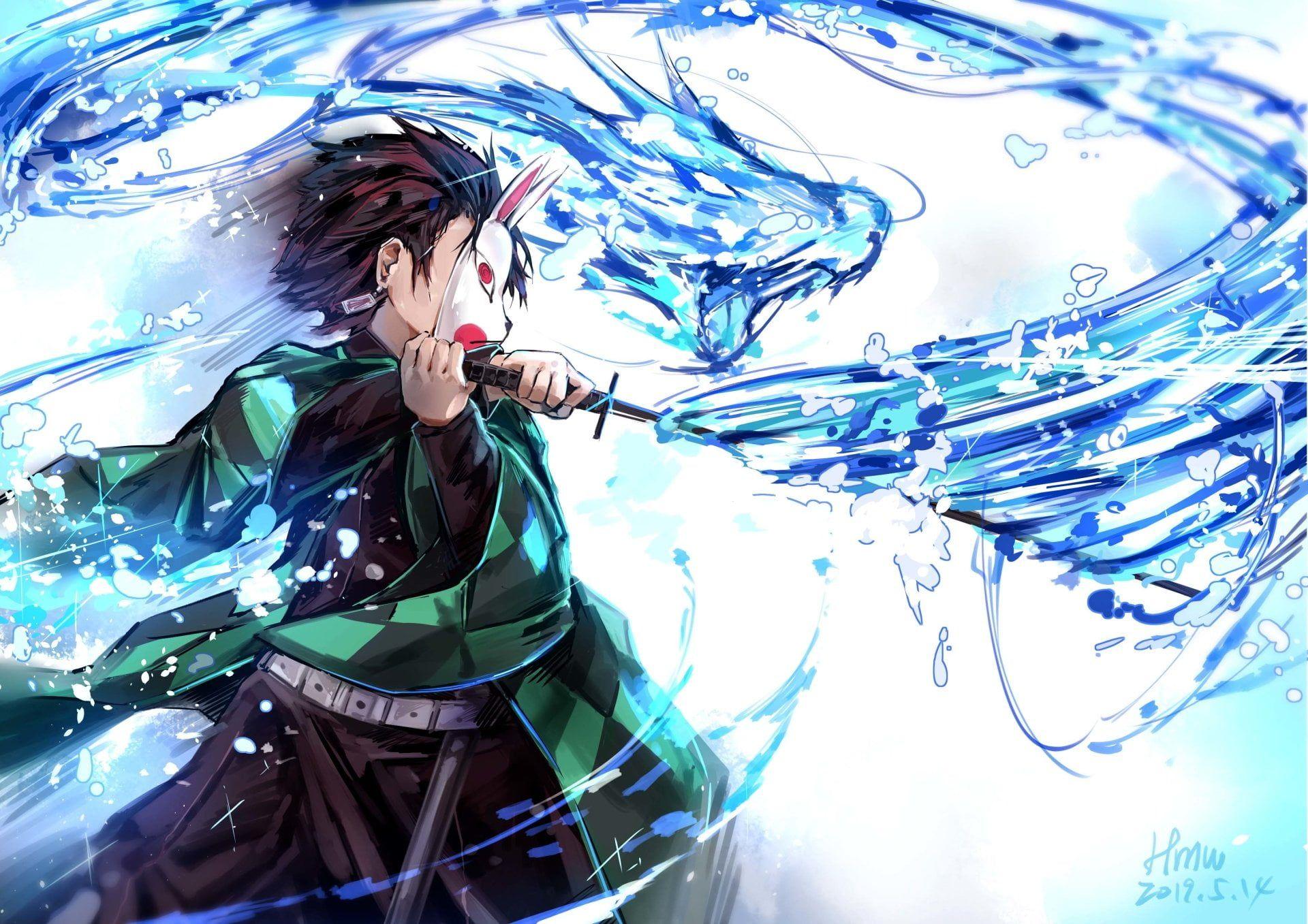 Kimetsu No Yaiba Tanjiro Kamado Anime 1080p Wallpaper Hdwallpaper Desktop Anime Demon Slayer Anime Anime Images