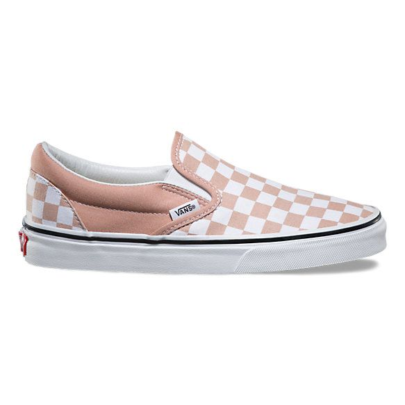 7.5 women's Checkerboard Slip-On mahogany rose/true white (pink) $50 |