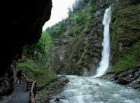 Stock photo of the Lichtensteinklamm Gorge in the Salzburger Land, Austria
