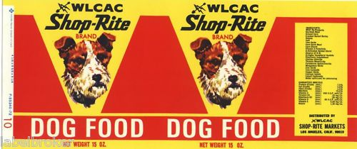 Vintage Can Label Rare Dog Food Radio Terrier 1950s Ebay Rare Dogs Doll House Pets Dog Food Recipes