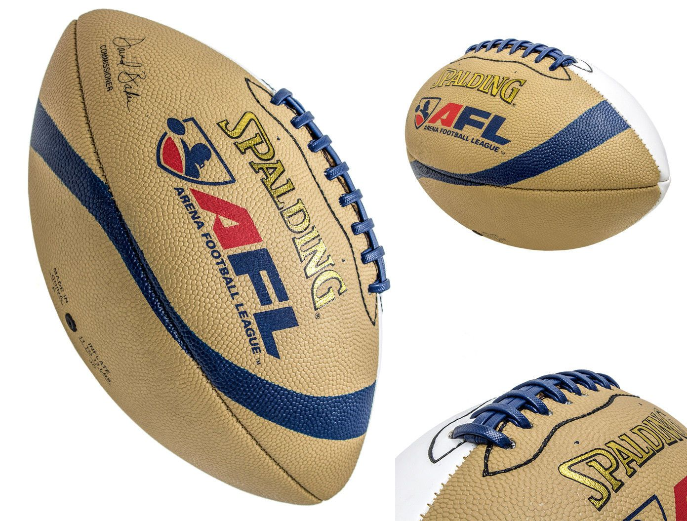 2aa51ee3c9a Footballs 21220  Spalding Afl Arena Football League Autograph Leather Full Size  Football -  BUY IT NOW ONLY   18.99 on  eBay  footballs  spalding  arena ...