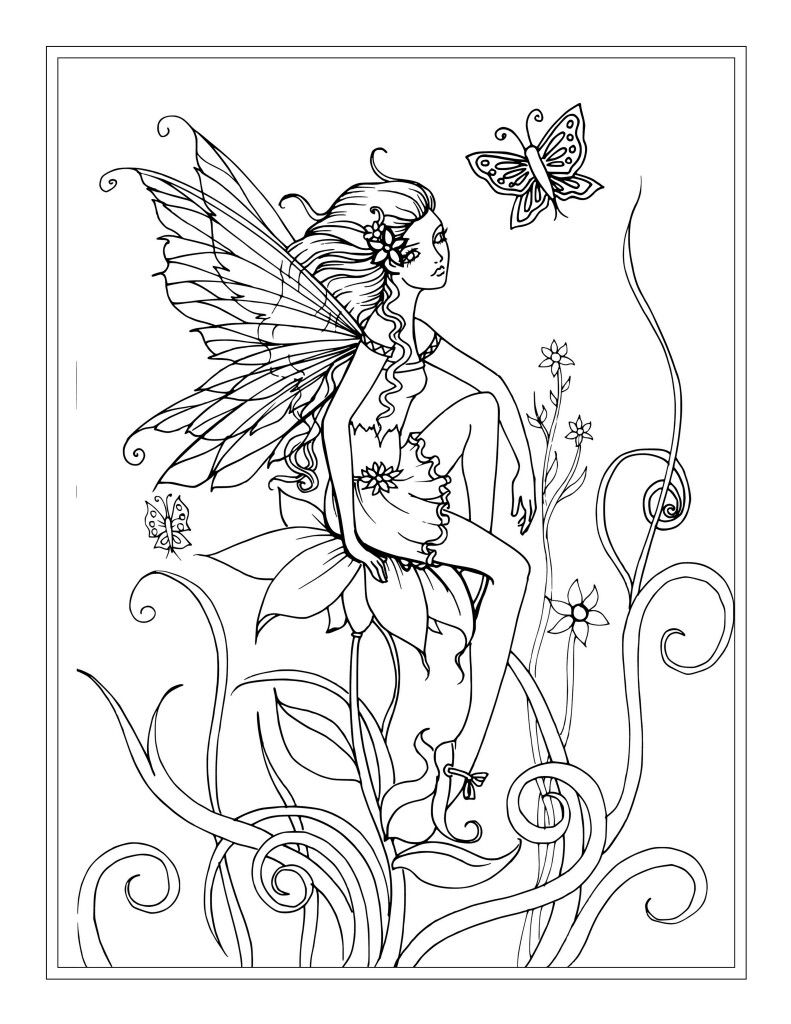 Free Flower Fairy Coloring Page by Molly Harrison | פיות | Pinterest ...