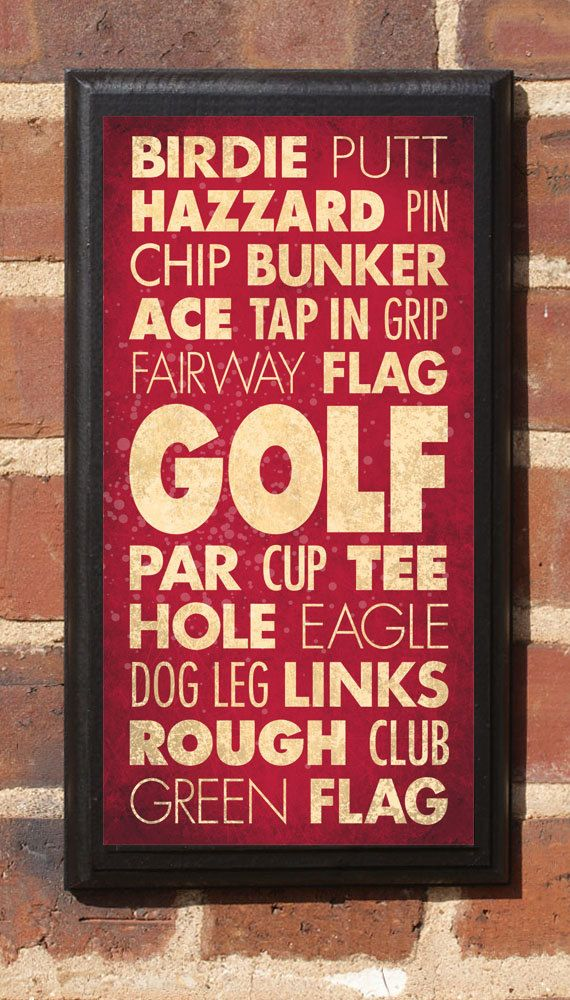 Golf Wall Art Sign Plaque Gift Present Home Decor Vintage