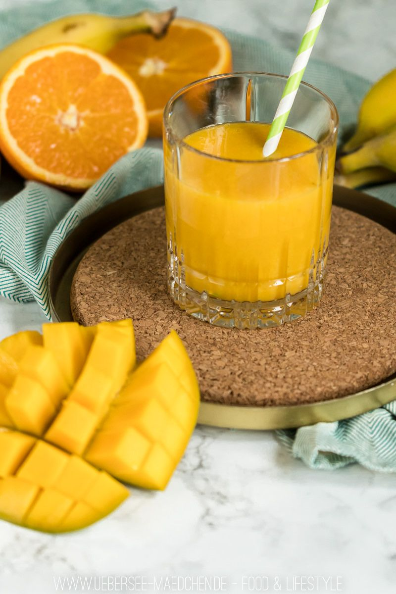 Rezept für Smoothie mit Banane und Mango cremig fruchtiges