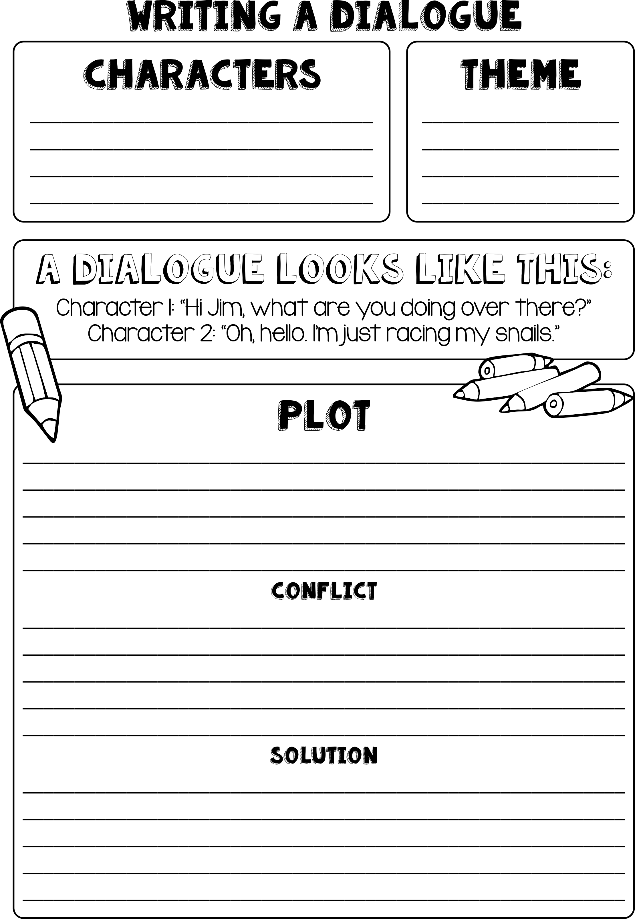 How To Write Dialogue Dialogue Writing Frame