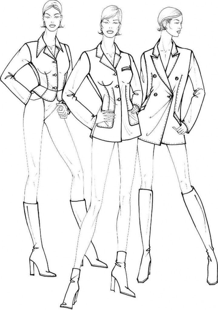 Учимся рисовать fashion-эскиз. Урок 26. Схематичный рисунок. Жакеты и куртки