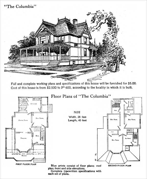1905 Hodgson: Columbia (antiquehome.org)...I Wonder If