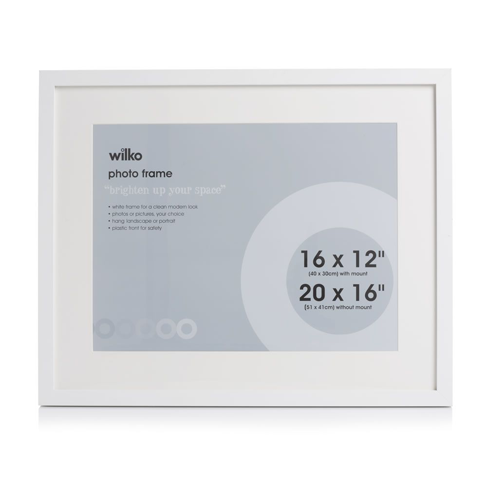 White Photo Frame 20 x 16in | White photo frames, Bedrooms and Room