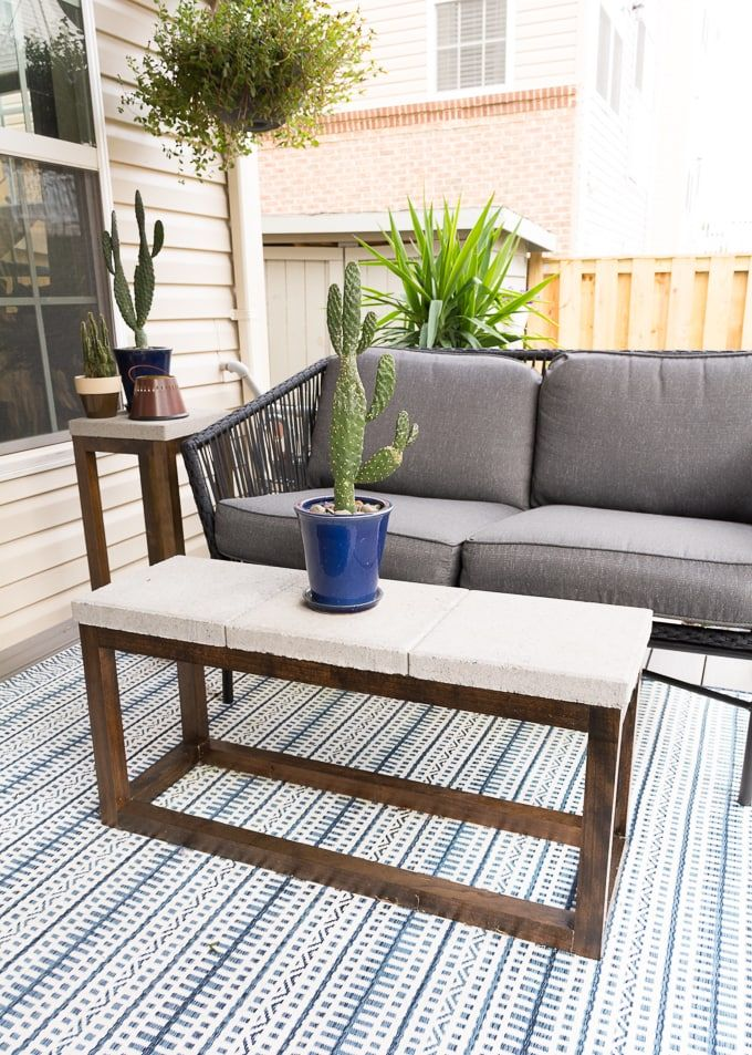 Diy Outdoor Coffee Table With A Concrete Top Mebel Dom I Sad