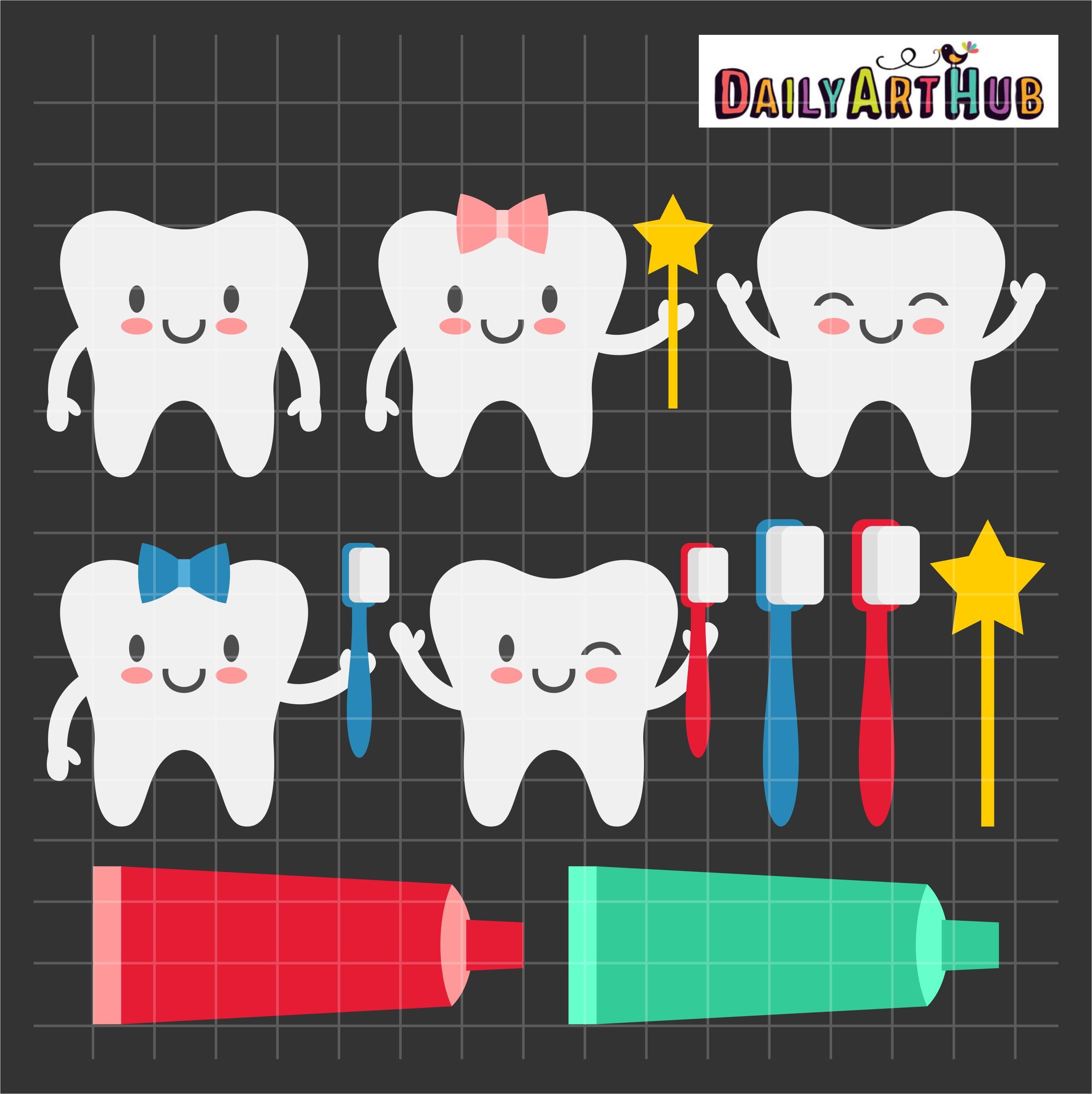 Happy Teeth Clip Art Set