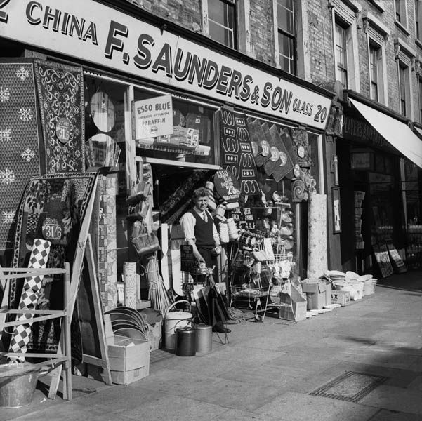 F. Saunders And Son Hardware Store, North London 1956