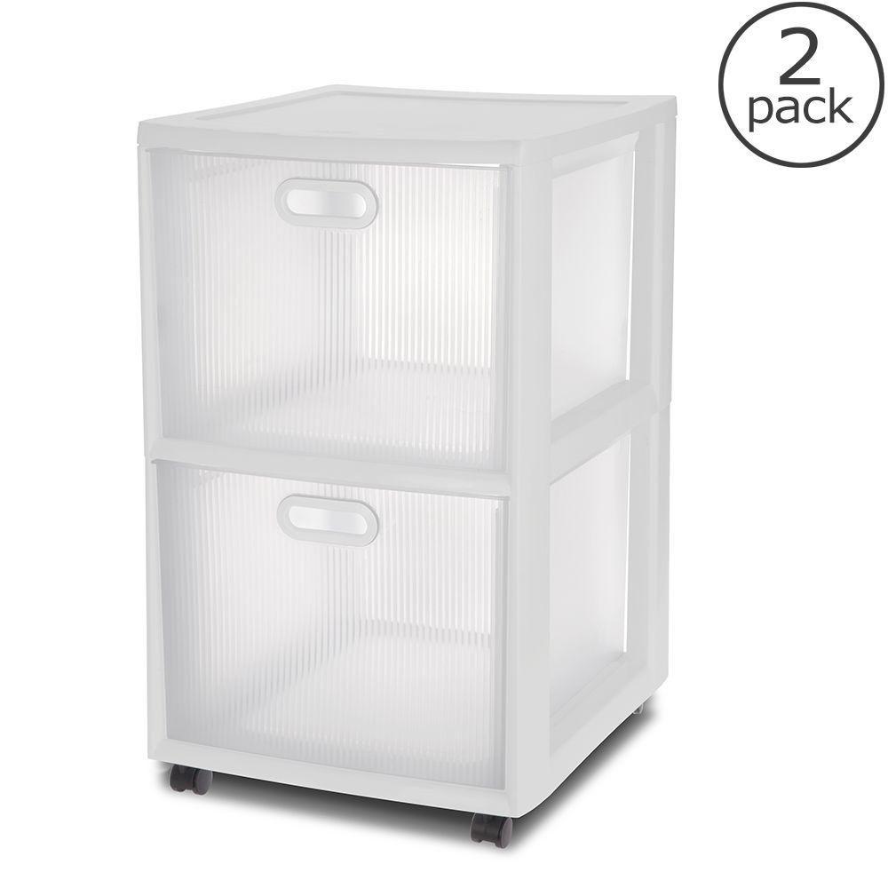 Drawer Ultra Cart  Pack White Plastic Storage