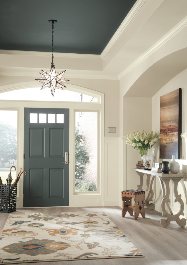 Dramatic Paint Inspiration Sherwin Williams Nouveau Narrative Color Palette Ceilings Foyers