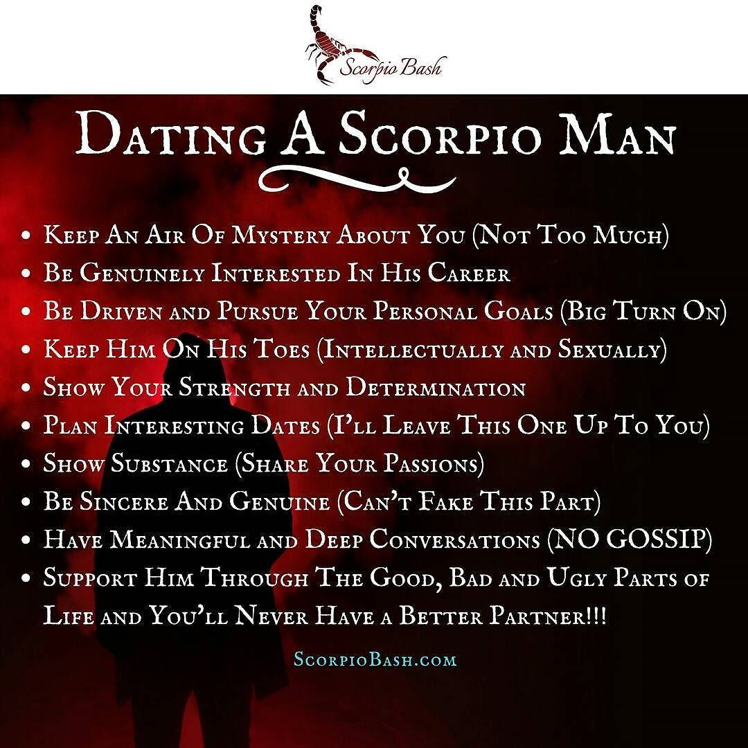 Scorpio man traits dating