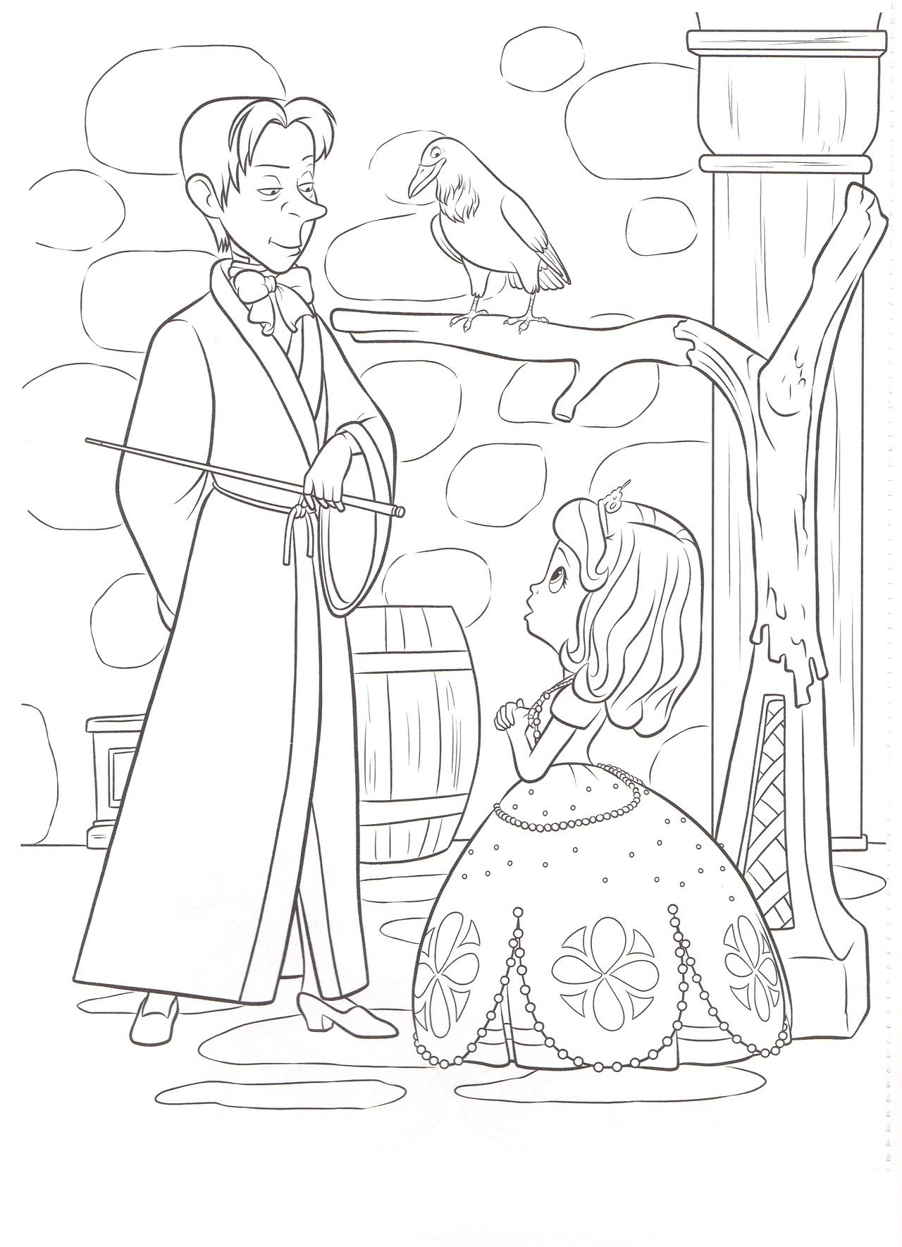 Princess Sofia Coloring Page Google Sogning Disney Coloring
