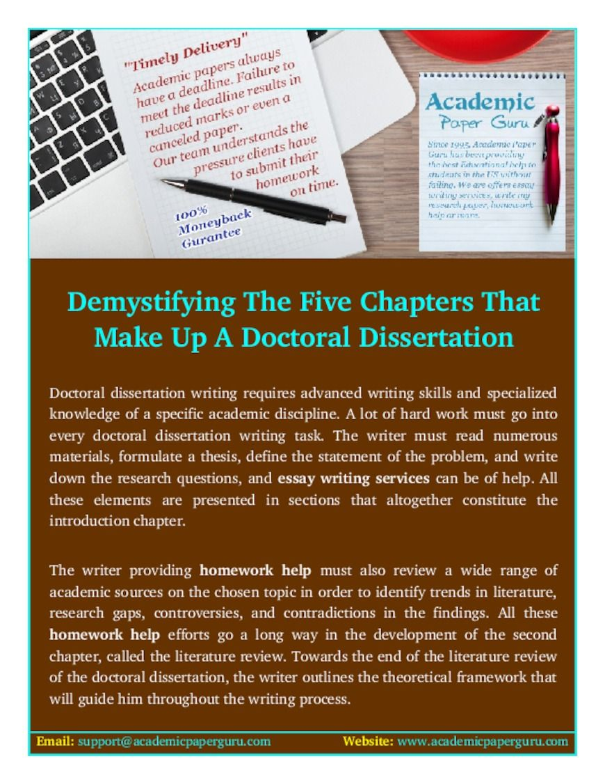 Demystifying The Five Chapter That Make Up A Doctoral Dissertation Pdfsr Com Writing Thesi Statement Essay Help Paper Service What Are Of