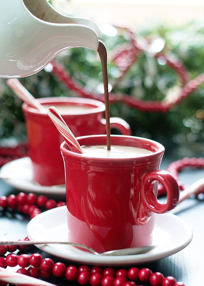 Peppermint Mocha Vegan Coffee Creamer recipe - A festive homemade non-dairy creamer made with coconut milk, cocoa powder, pure maple syrup, and extracts.