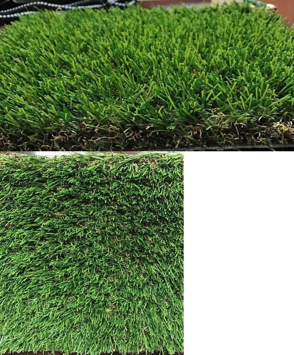 Synthetic grass premium turf green and tan thatch dual
