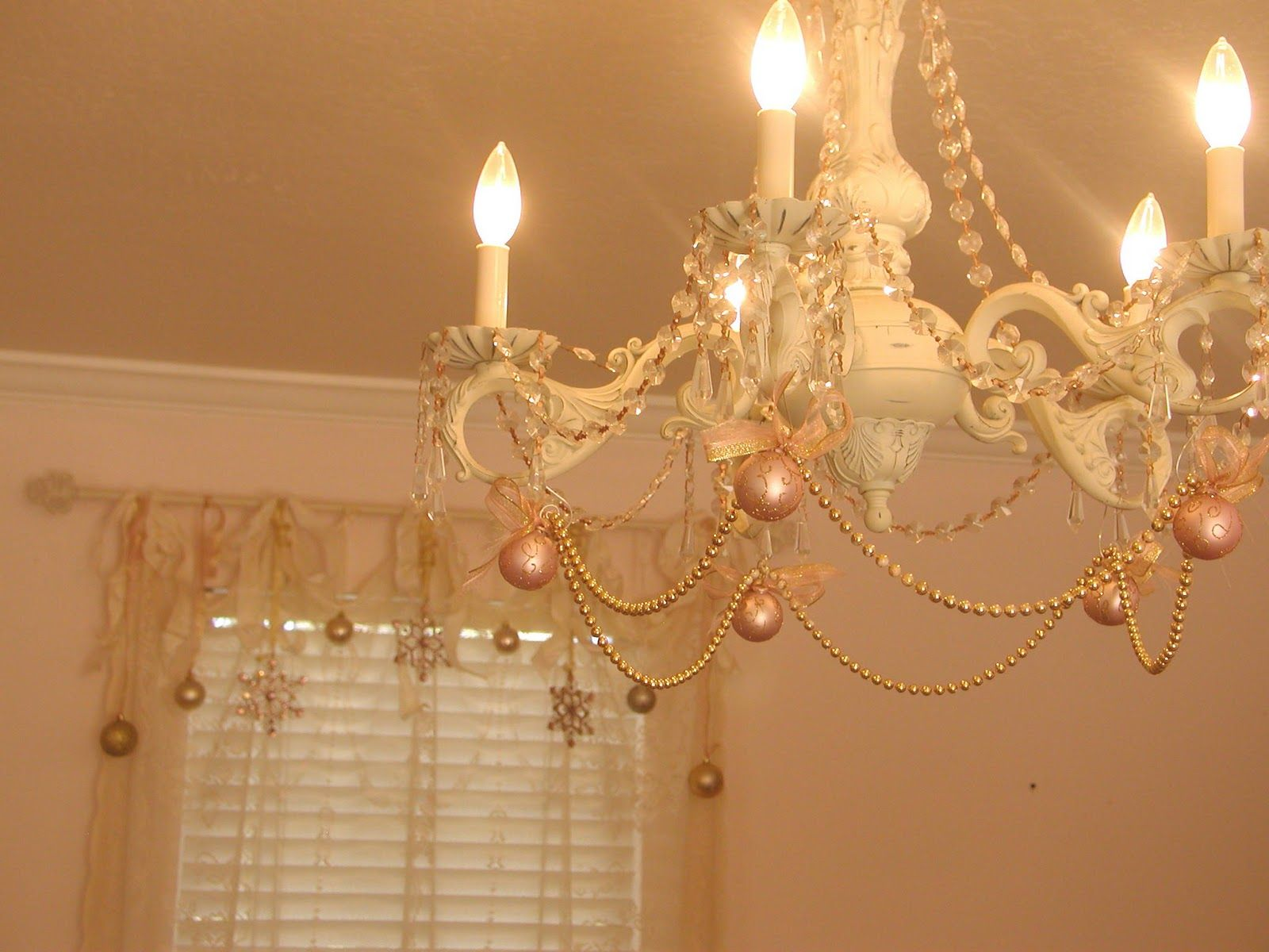 Chateau de fleurs champagne blush pink cream and gold - Blush pink christmas decorations ...