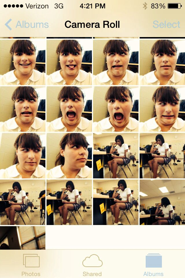 My friend taking my phone and taking........well a lot of photos!