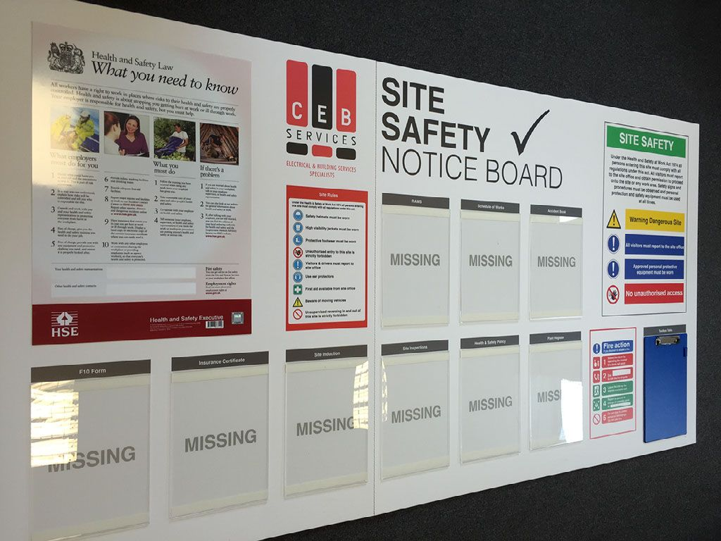 QHSE Site Safety Boards Workplace safety and health