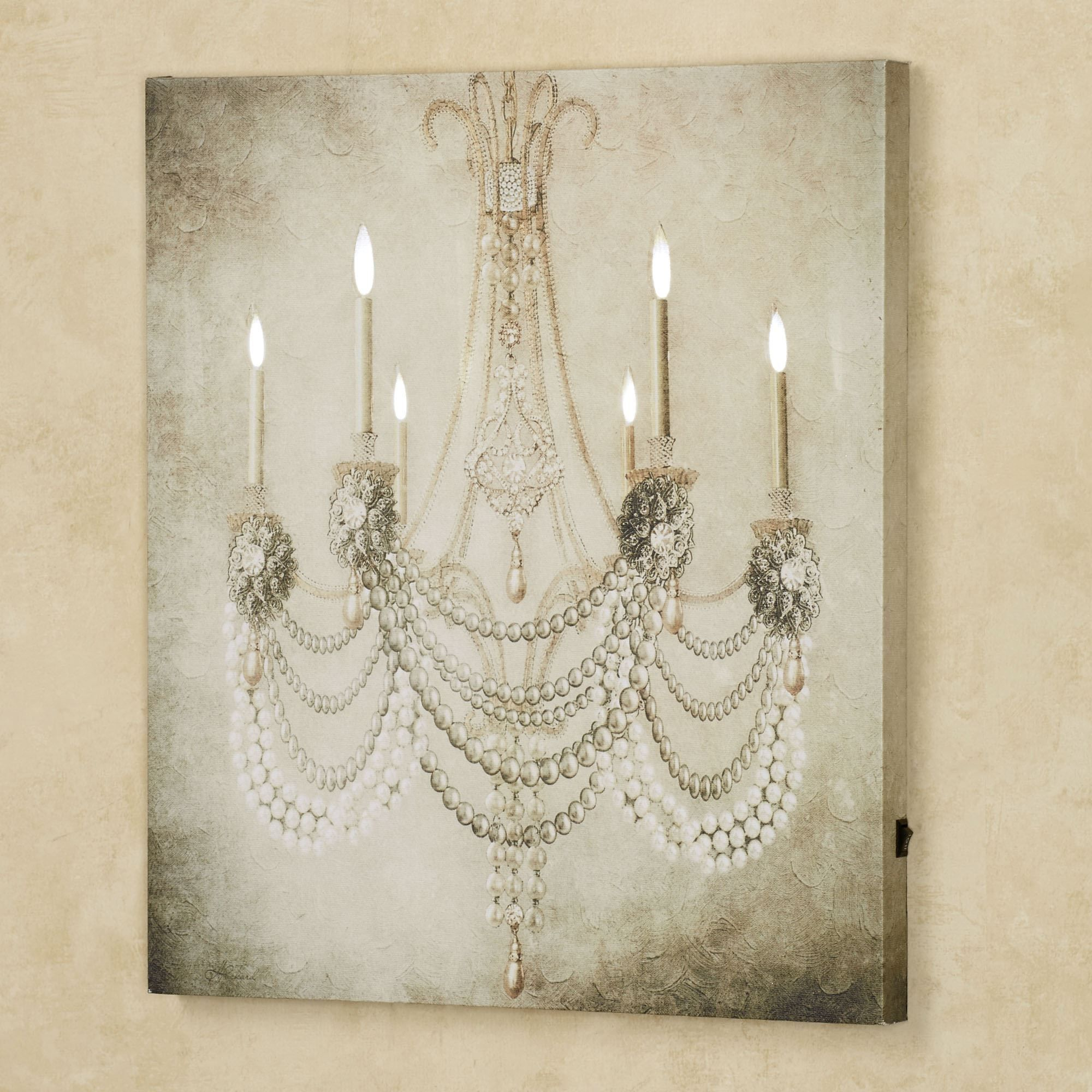 Vintage Chandelier Led Lighted Canvas Art