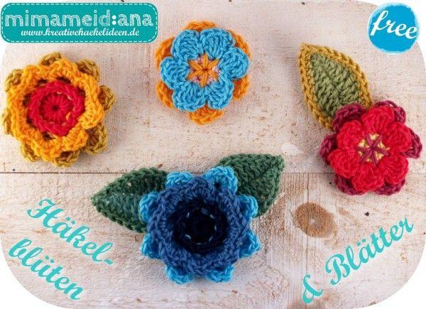 Blumen + Blüten selber häkeln – 2 Motive ✓✓   Häkeln / Amigurumis ...
