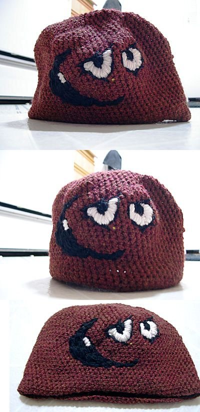 ed6ac49a107cc For the shorties~crochet meatwad hat (my birthday is on Jan 1st ...